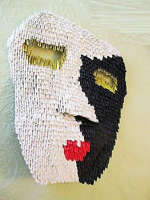Sandy, the mask (Origami, art, origami, paper folding, anniversary, mask)