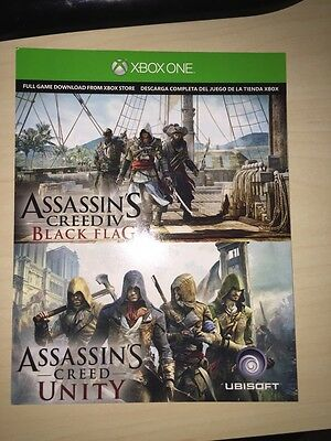 Assassin's Creed Unity PLUS Assassin's Creed IV Black Flag for Xbox One