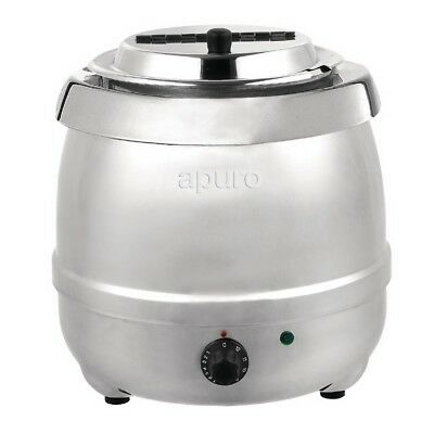 Soup Kettle / Warmer 10L Stainless Steel Commercial Unit, Chilli / Sauce / Curry