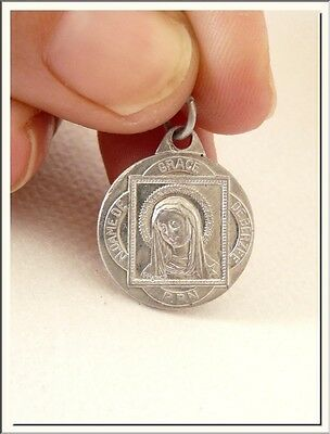 ART NOUVEAU FRENCH SACRED HEART OF JESUS & OUR LADY OF GRACE MEDAL by LASERRE !!