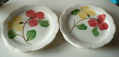HERITAGE WARE by STETSON floral BREAD & BUTTER plates 6