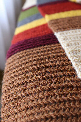 SUMMER SALE! Handmade Crocheted 12 ft long full size Doctor Who 4th Doctor scarf