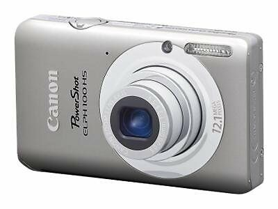 Canon PowerShot ELPH 100 HS 12.1 MP Digital Camera - Silver + FREE 4GB SD card