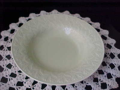 Soup Bowl Celery Green Block Whisper Green Embossed Tulips Coupe Rim 1998 Used