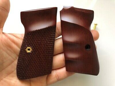 Cool Haft Checkered Hardwood Grip For Walther Interarms PP PPK//S Handgun grip