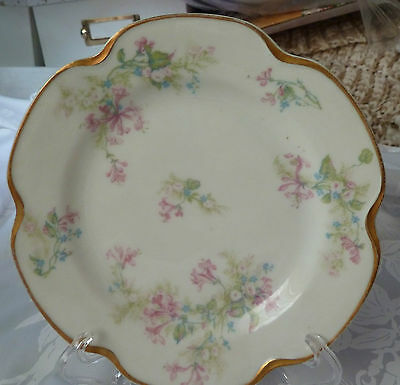 Limoge Haviland France bread & butter plate  pink floral, 6 1/4 in. Beautiful!