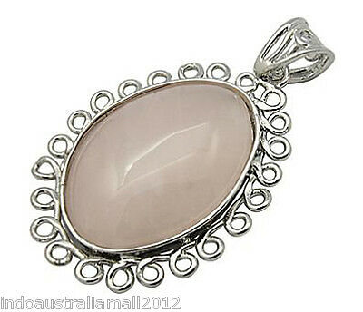 Natural Gemstone Rose Quartz Love Heart  Pendant with Necklace Chain(G-C006-3)