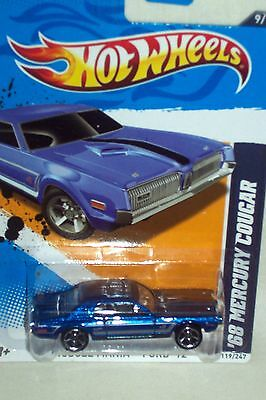 Hot Wheels 2012 MUSCLE MANIA - FORD '68 Mercury Cougar 9/10 #119