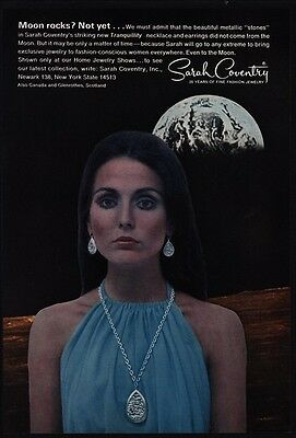 1969 SARAH COVENTRY Tranquillity Jewelry - Necklace - Earings - Moon VINTAGE AD