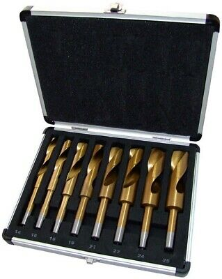 8PC BLACKSMITH TITANIUM HSS HIGH SPEED STEEL TWIST DRILL BIT SET 14-25mm