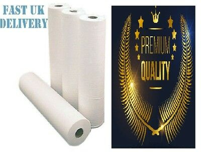 "4 x Paper Roll 20"" 40M WHITE Hygiene Beauty Salon Massage Couch Table Bed Cover"