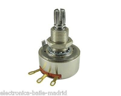 POTENTIOMETER PEC 500K AUDIO 24mm KNURLED LONG SHAFT FOR BASS OR GUITAR