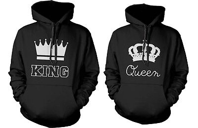 Matching Couple Hoodies - King and Queen Couple Sweatshirt Set