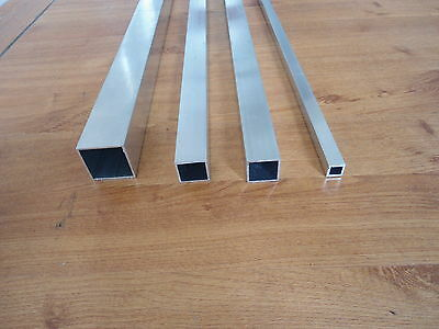 Aluminium Square Tube ,Alloy  Box Section Bush 6082t6 quality 1 metre  long