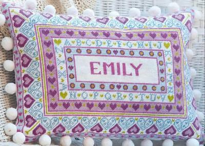 HS Needlepoint/Tapestry Sampler Cushion Kit – Alphabet & Heart