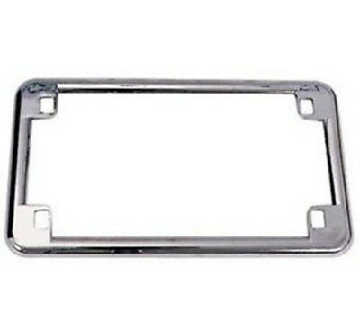Emgo Chrome License Plate Frame Use On All Motorcycles Or Custom