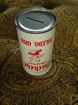 Vintage Rare Buckeye Chapter Toledo, Ohio BCCA Empty SS Beer Can Coin Bank