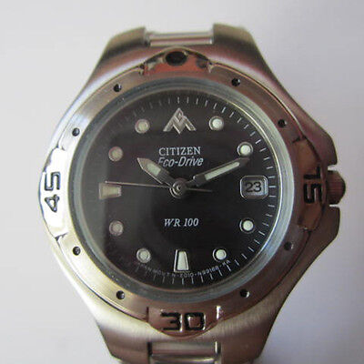CITIZEN ECO-DRIVE LADY'S WATCH QUARTZ ALL STAINLESS S ORIGINAL EDITION JAPAN NEW