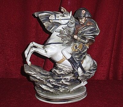 """Vintage-Capodimonte, Marked- """"Crown and N"""" Napoleon on Horse"""