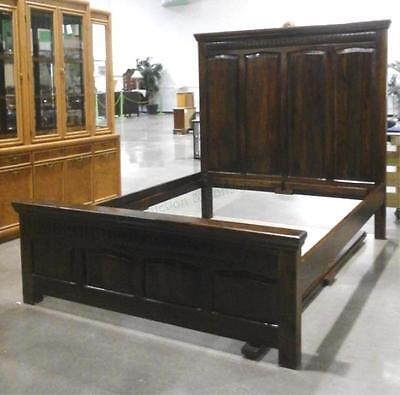 Full-size Rustic Style Headboard Bed Frame Lot 2309
