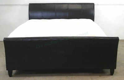 Contemporary King Size Sleigh Bed W/ Mattress, Box Lot 2332