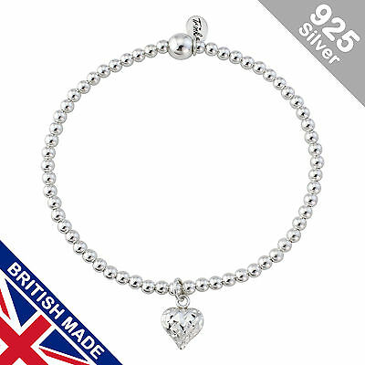 Trink Brand Tubular Sterling Silver Beaded Charm Bracelet Beads and Tubes cfcoO