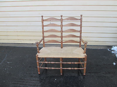 55189   Rustic Rush Seat Loveseat  Sofa Couch Settee Chair