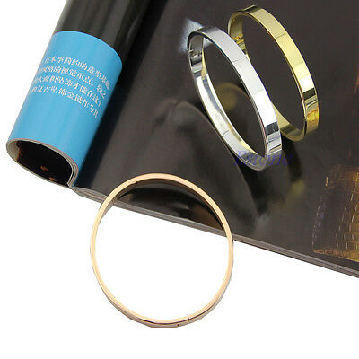 Womens Lover Men's Stainless Steel Polished Cuff Bangle Bracelet Wristband Charm