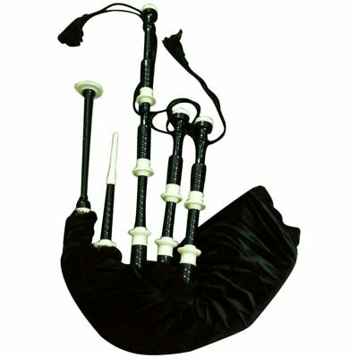 Great Highland Bagpipe Black Color Immation Ivory Amount/Bagpipe/Gaita/DUDELSACK