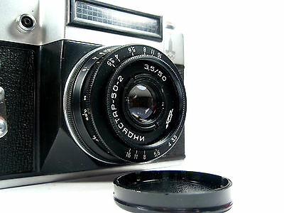 ZENIT E Vintage 35mm SLR Russian USSR M42 Film Camera INDUSTAR 50-2 Lens