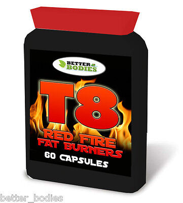 60 Strong Fat Burners Diet Weight Loss Pills Slimming Tablets Legal T8 Bottle