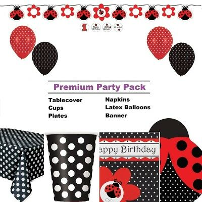 Ladybird | Ladybug 8-48 Guest Premium Party Pack - Tableware and Decorations