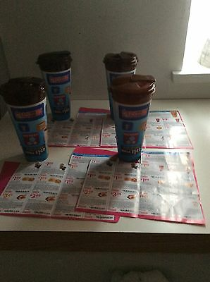 4 Dunkin Donuts refill mugs/cups 24oz. (Special limited offer refill price)
