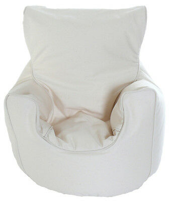 Cotton Natural Bean Bag Arm Chair with Beans Toddler Size From Bean Lazy