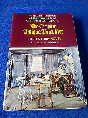 The Complete Antiques Price List by Ralph & Terry Kovel 5th Rev Edition 1972