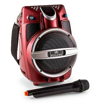 Portable Pa Speaker With Wireless Microphone Dj Sound System * Free Uk P&p Offer