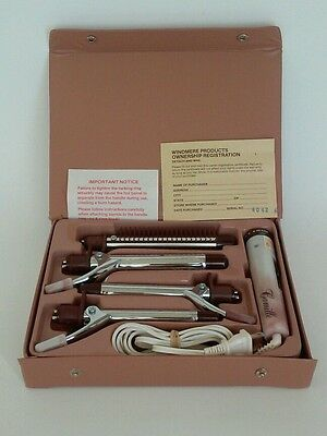 VINTAGE WINDMERE PRODUCTS CAMILLE CURLING IRON SET KIT TRAVEL PAGEANT CURLS
