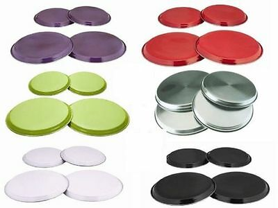 4 Pc Stainless Steel Coloured Hob Cover/protector Metal Ring Electric Cooker Bn