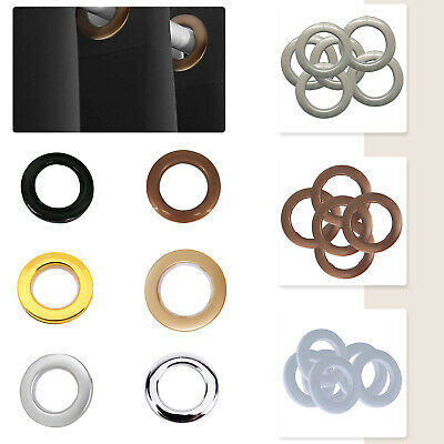 10 x 42mm Plastic Eyelets and Rings Clips Grommets Crafts Curtain Accessories