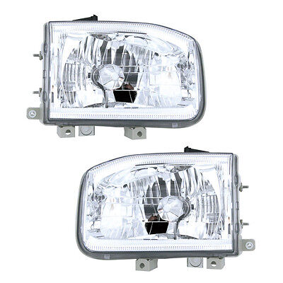 Fits 99-04 Nissan Pathfinder Headlight Assembly Driver Passenger Side Pair