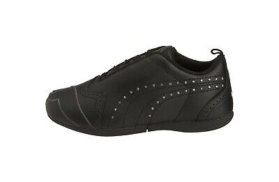 Puma Children Big Girls Kids Sela Diamond Black Synthetic Shoes Bling Stone