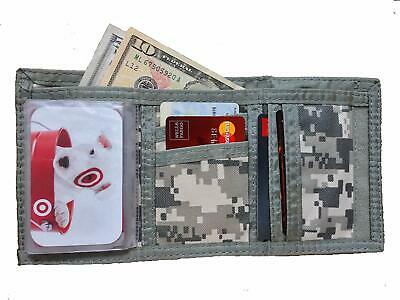 PACK OF 6 Tri-Fold Digital ACU Army Military Digital Camo Cloth Wallet WHOLESALE