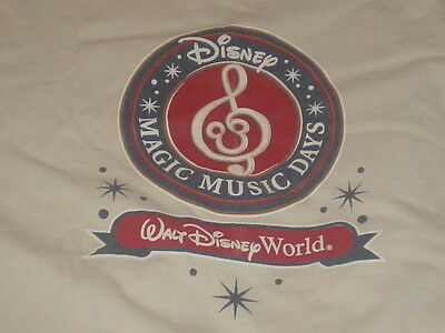 DISNEY Vintage t-shirt MAGIC MUSIC DAYS XL Mickey Walt World Tan Authentic
