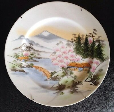 Hand Painted Porcelain Plate With Japanese Makers Mark. Lovely Piece