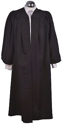 Black Graduation Gown - University Academic Bachelors Robe - Top Quality Luxury!