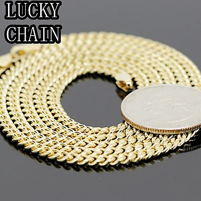 """30""""14K GOLD PLATED MIAMI CUBAN LINK CHAIN NECKLACE 3.5MM 21g R109"""