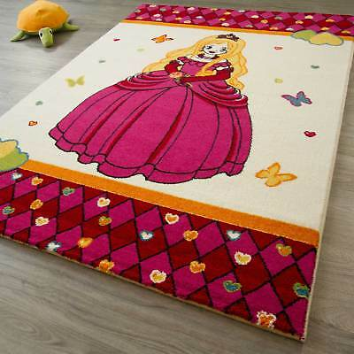 Kinder Teppich Little Carpet - Prinzessin Schmetterling Tiere Kinderteppich Neu