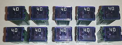 10 New 40 AMP 32V Standard J-Case Green Cartridge Fuses