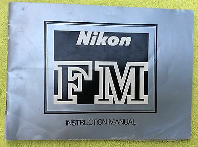 Nikon FM Camera Instruction Manual Genuine oem original
