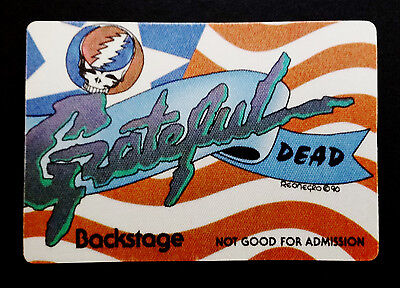 Grateful Dead Backstage Pass 1990's Steal Your Face USA Star & Stripes ! No Date
